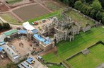 Lowther Castle - Aerial view of refurbishment works (2)