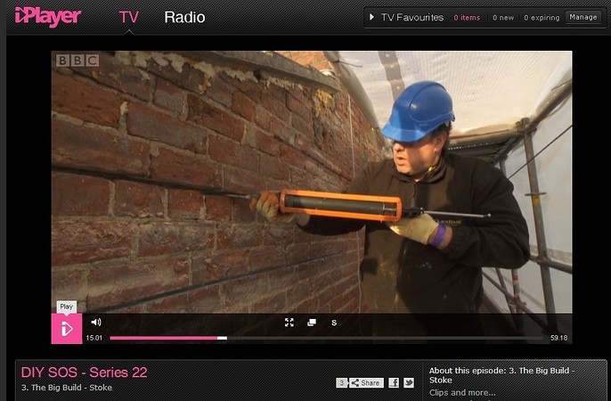 Masonry Beaming DIY SOS Big Build Stoke 2