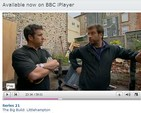 Spencer Caizley of Thor Helical Remedial and Nick Knowles - DIY SOS Dolls House
